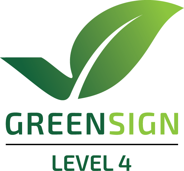 Green Sign Logo Level 4